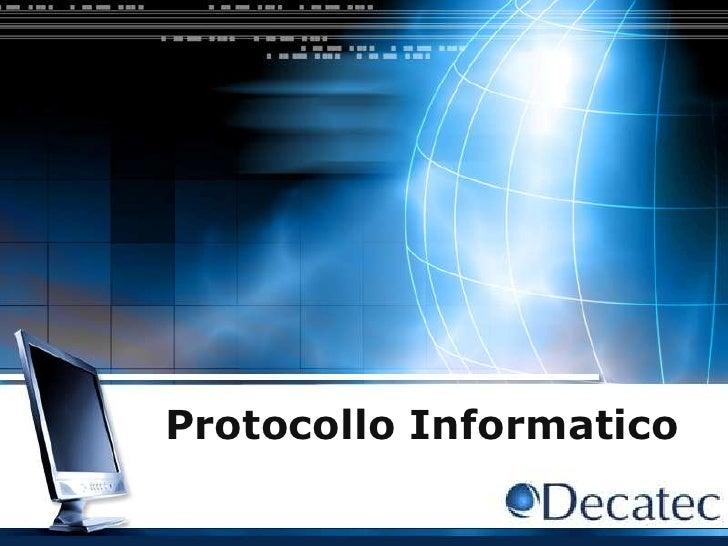 Protocollo informatico - Protocollazione documenti