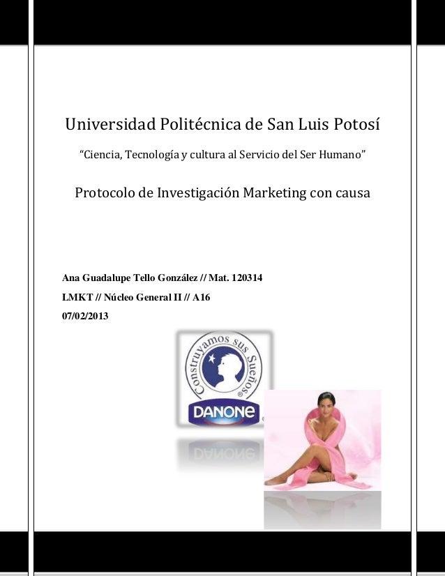 """Universidad Politécnica de San Luis Potosí   """"Ciencia, Tecnología y cultura al Servicio del Ser Humano""""  Protocolo de Inve..."""