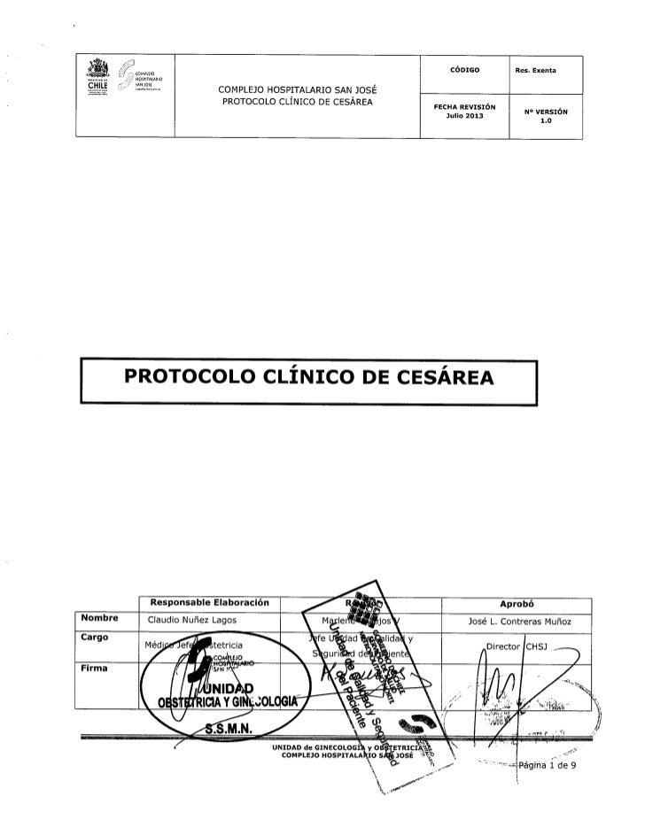 Protocolo clínico de cesárea