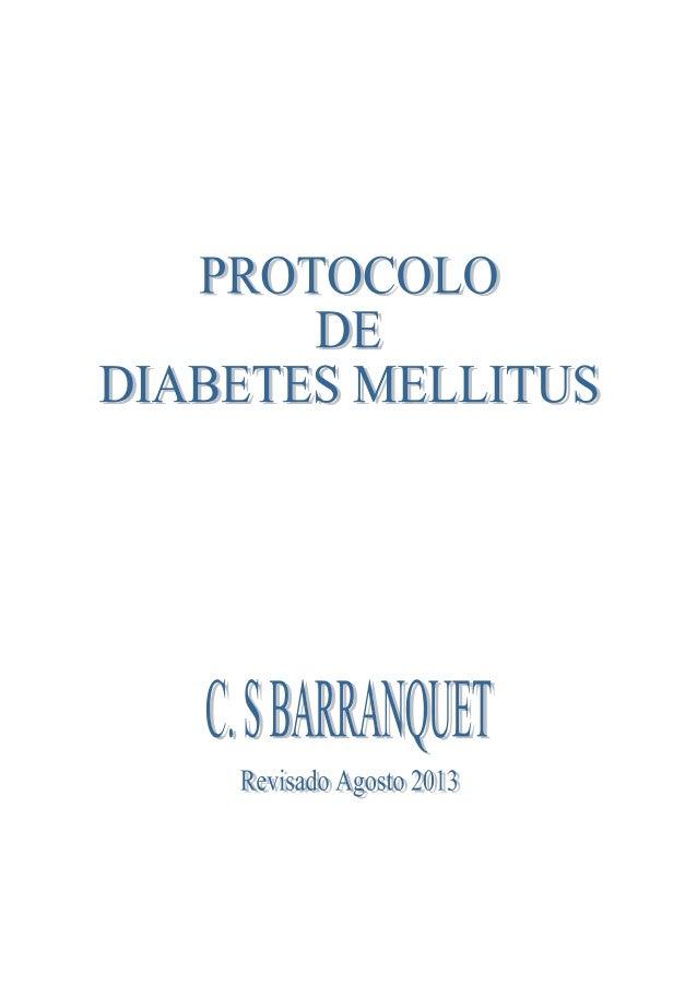 Barranquet Protocolo de diabetes mellitus