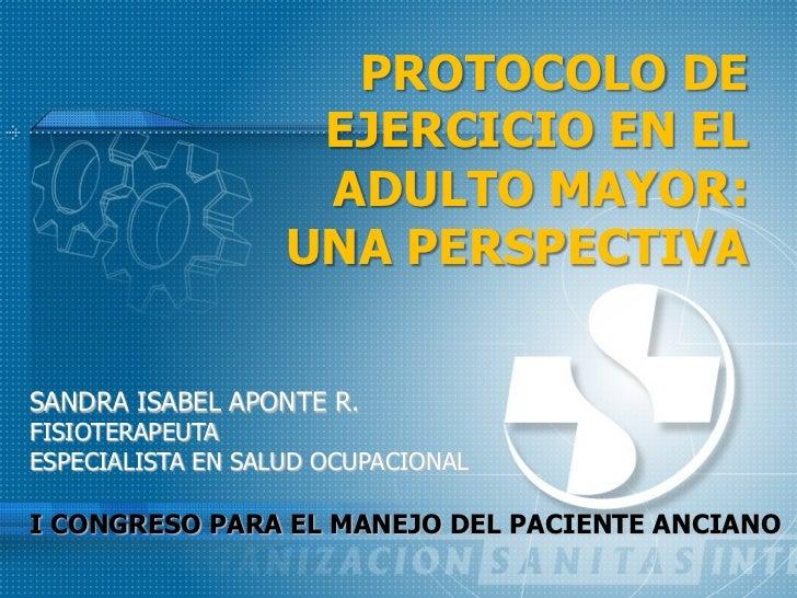 Protocolo de ejercicio en el adulto mayor
