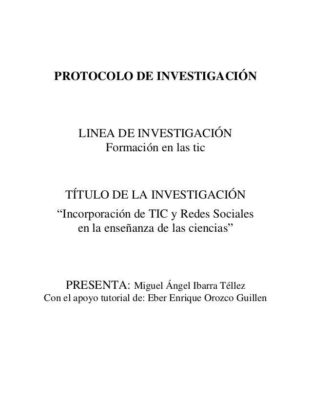 Protocolo de investigación tic