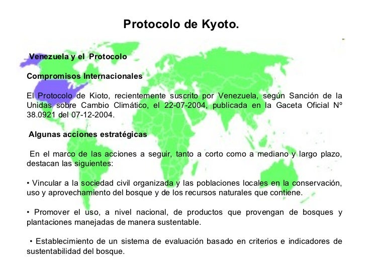 venezuela kyoto protocol refusal None of the parties to the kyoto convention refused to sign the protocol the united states signed the protocol but subsequently refused to ratify it share to.
