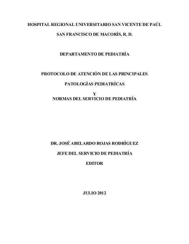 Protocolo de pediatria hrusvp