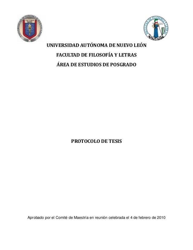 UNIVERSIDAD AUTÓNOMA DE NUEVO LEÓN                FACULTAD DE FILOSOFÍA Y LETRAS                ÁREA DE ESTUDIOS DE POSGRA...