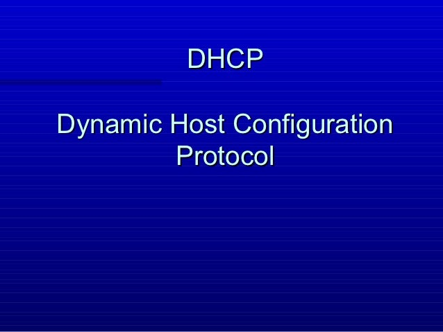 Protocolo dhcp