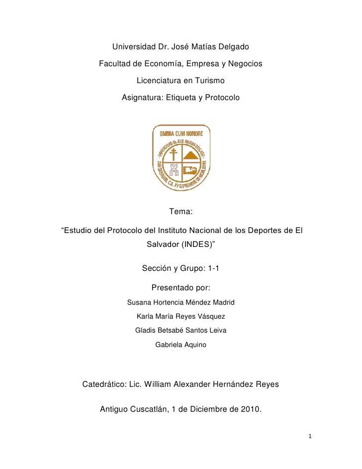Universidad Dr. José Matías Delgado          Facultad de Economía, Empresa y Negocios                    Licenciatura en T...