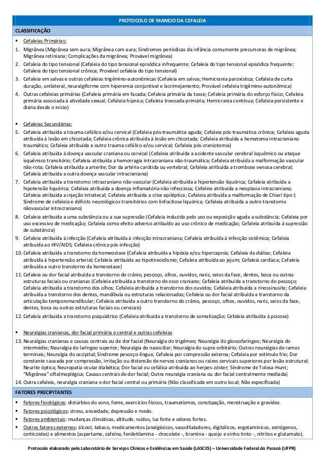 Protocolo elaborado pelo Laboratório de Serviços Clínicos e Evidências em Saúde (LASCES) – Universidade Federal do Paraná ...