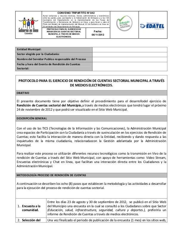 Protocolo y rendicion de cuentas Secretaria de Planeación
