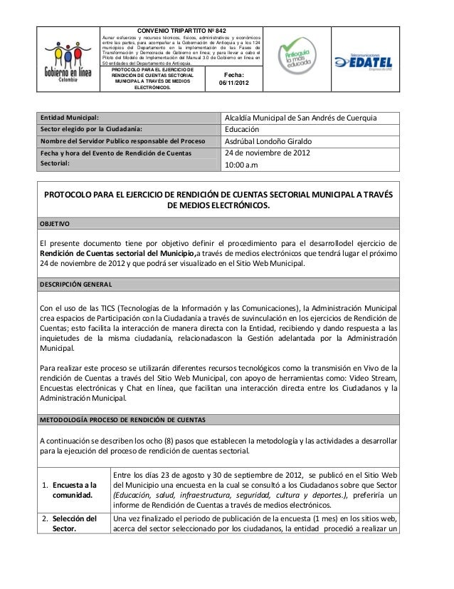 CONVENIO TRIPARTITO Nº 842                       Aunar esfuerzos y recursos técnicos, físicos, administrativos y económico...