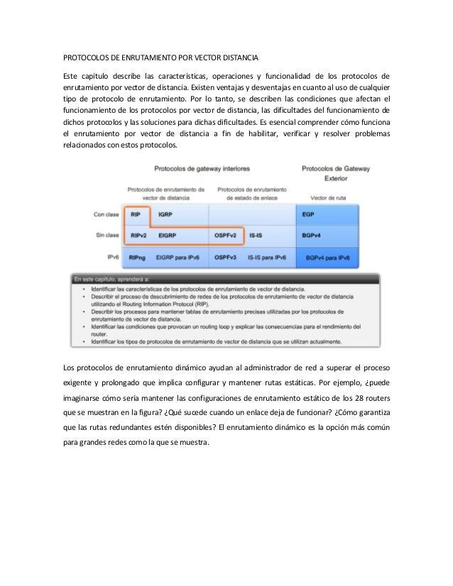 Protocolos de enrutamiento por vector distancia