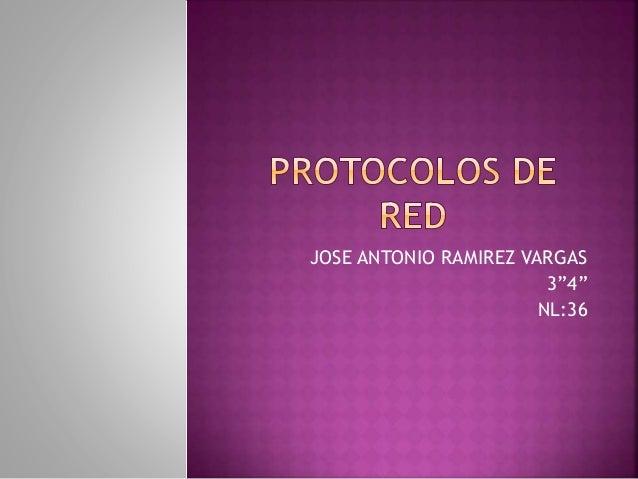 """JOSE ANTONIO RAMIREZ VARGAS 3""""4"""" NL:36"""