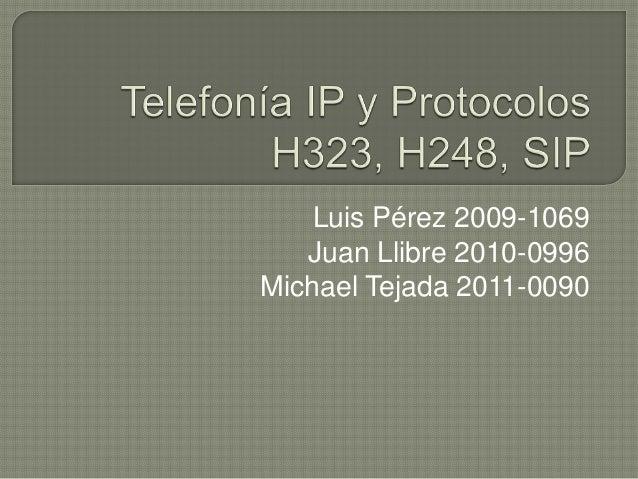 Luis Pérez 2009-1069 Juan Llibre 2010-0996 Michael Tejada 2011-0090