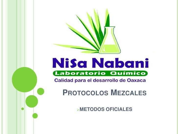 PROTOCOLOS MEZCALES   METODOS   OFICIALES