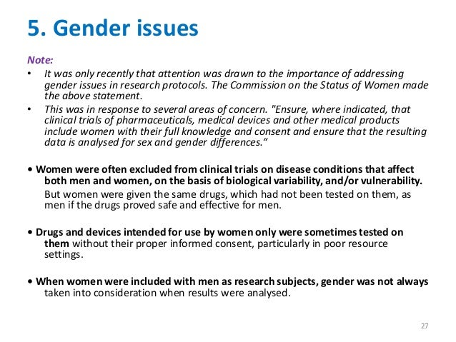 Gender related issues that would be easy to write a research paper on?