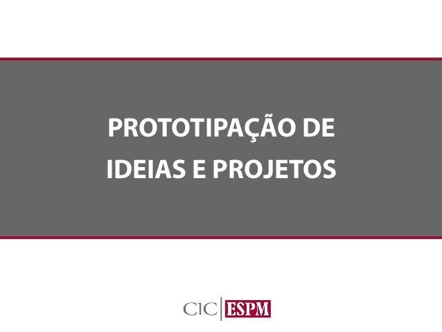 Curso Prototipagem de ideias e projetos - Material Resumido