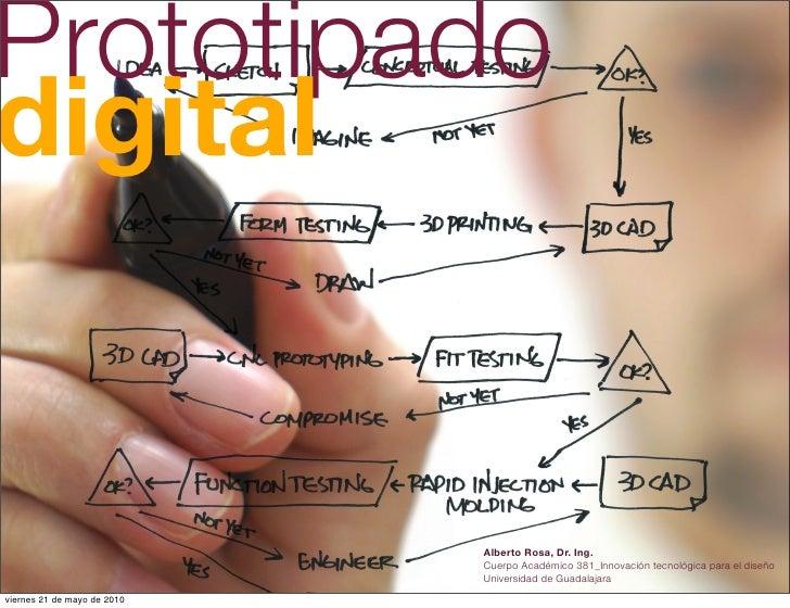 Prototipado digital                                Alberto Rosa, Dr. Ing.                              Cuerpo Académico 38...