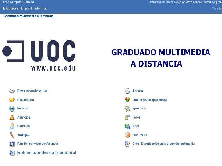 Interfaz 'Descripción del curso'
