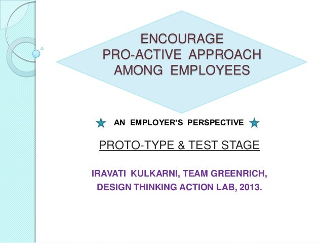 Prototype and test1 : Employer's Perspective