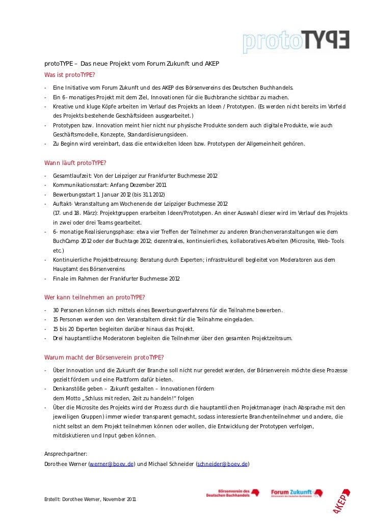 protoTYPE Factsheet