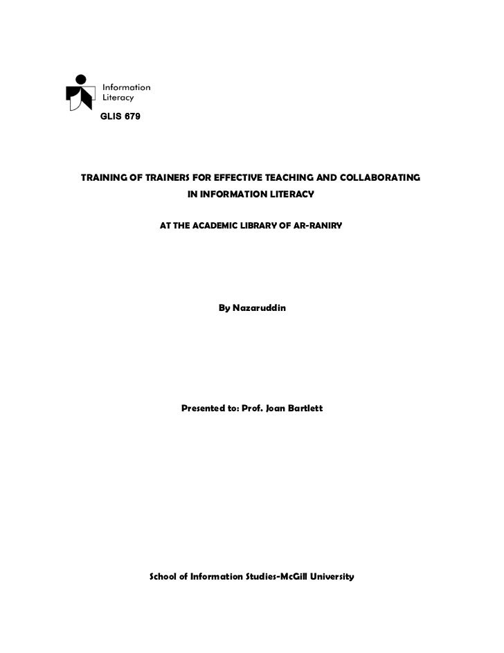 Prototype pengajaran information literacy (il)