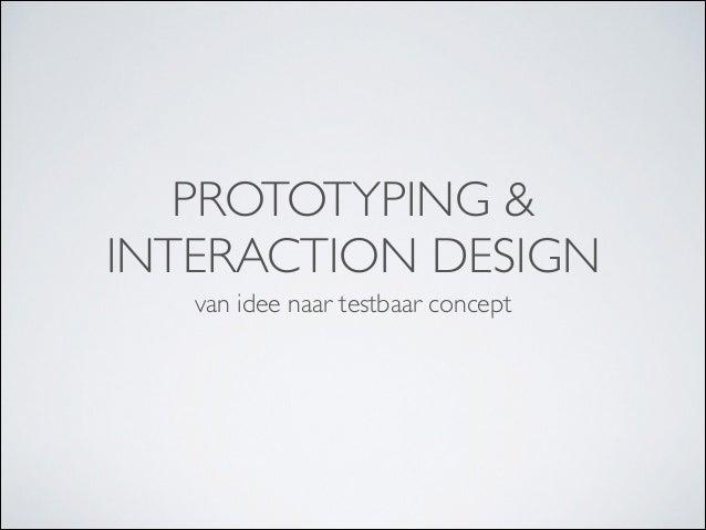 Presentatie Prototyping