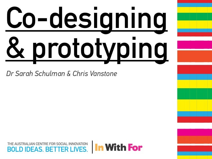 Co-designing& prototypingDr Sarah Schulman & Chris Vanstone