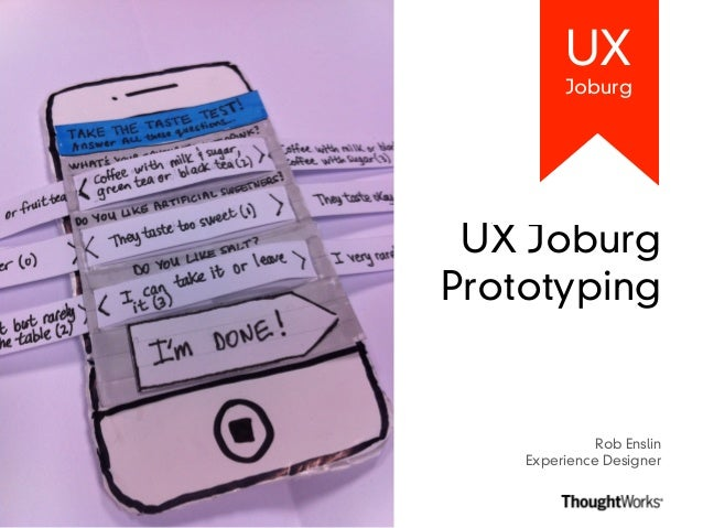 UX Joburg: Prototyping Workshop (UX)