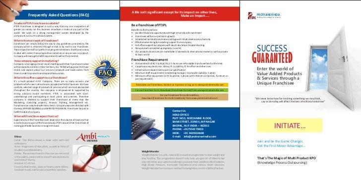 Protrainer india 3 fold brochure