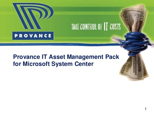 Provance IT Asset Management Pack for Microsoft System Center 1