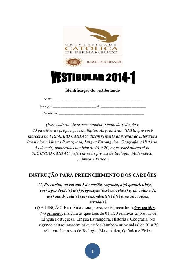 Provas gabarito-unicap-2014-1