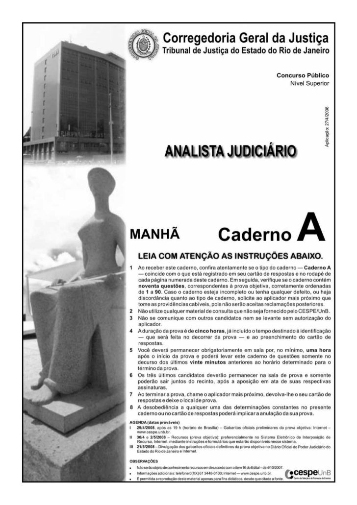 Prova tjrj 2008_analista_a