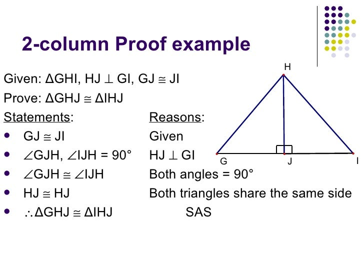 Double transversal 2 column proof