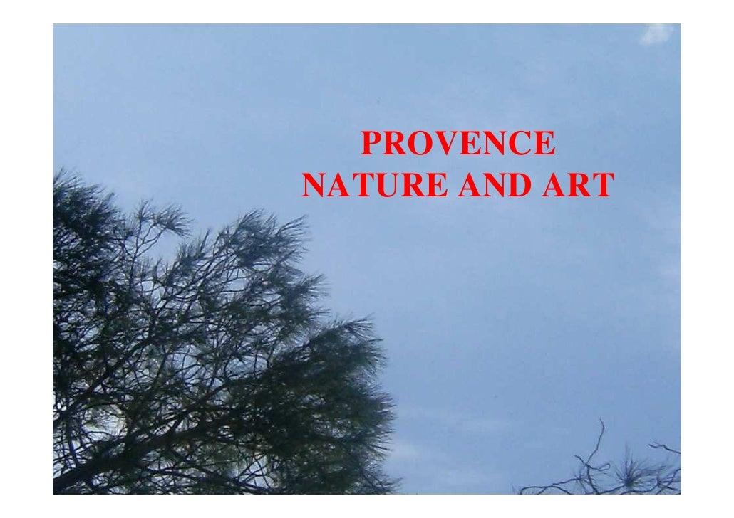 PROVENCENATURE AND ART