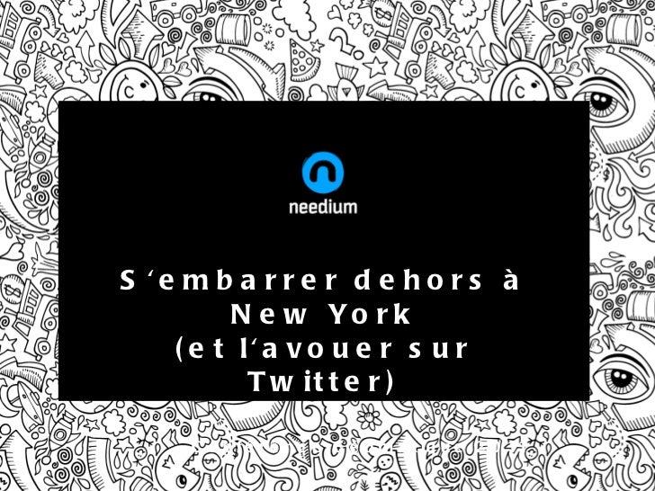S'embarrer dehors à New York (et l'avouer sur Twitter) Conférence Géomatique 2011