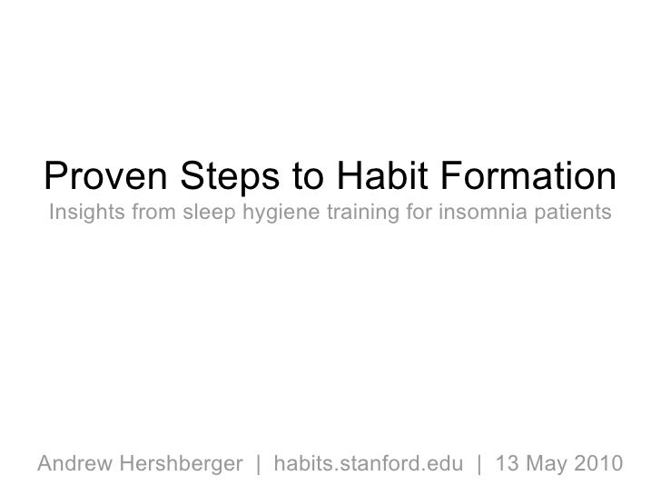 Proven Steps To Habit Formation