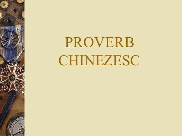 Proverbe chinezesti