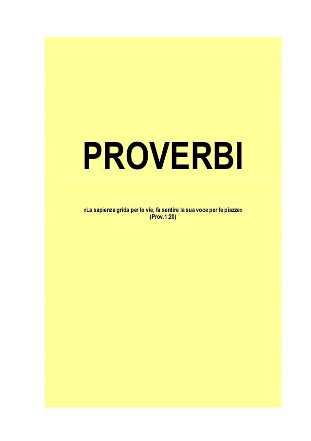 Proverbi di salomone