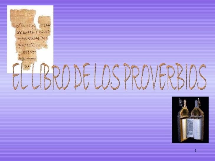EL LIBRO DE LOS PROVERBIOS