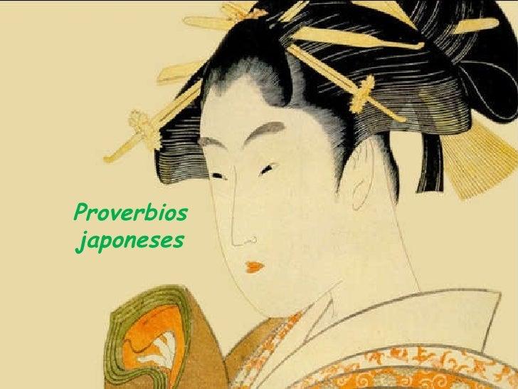 Selección de Proverbios Japoneses