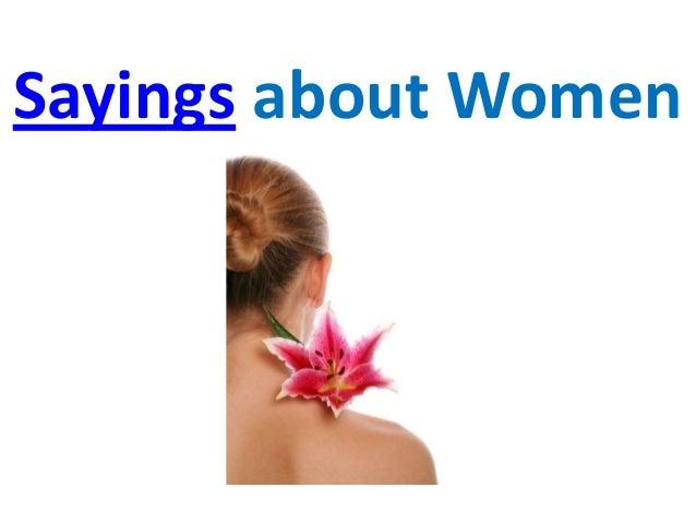 Sayings about Women
