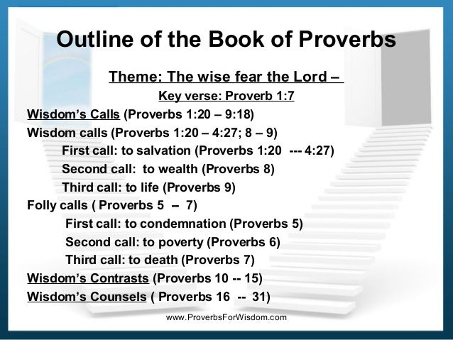 essay on the book of proverbs