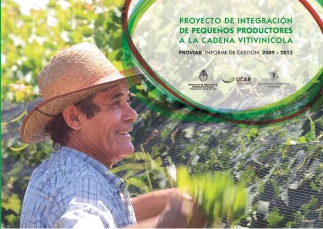 PROVIAR Informe de gestión (2009-2013)