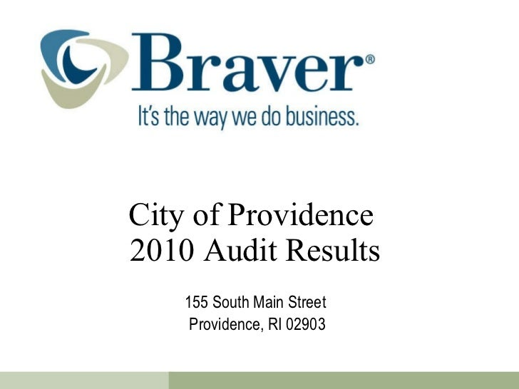 City of Providence  2010 Audit Results 155 South Main Street  Providence, RI 02903