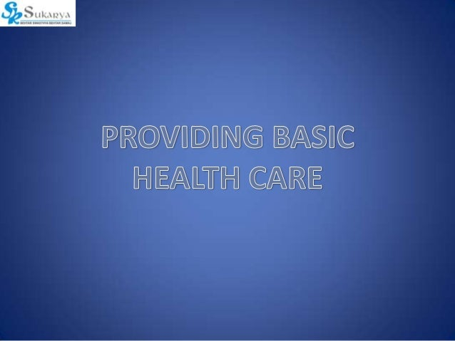 Provision of Basic Health Care Programme