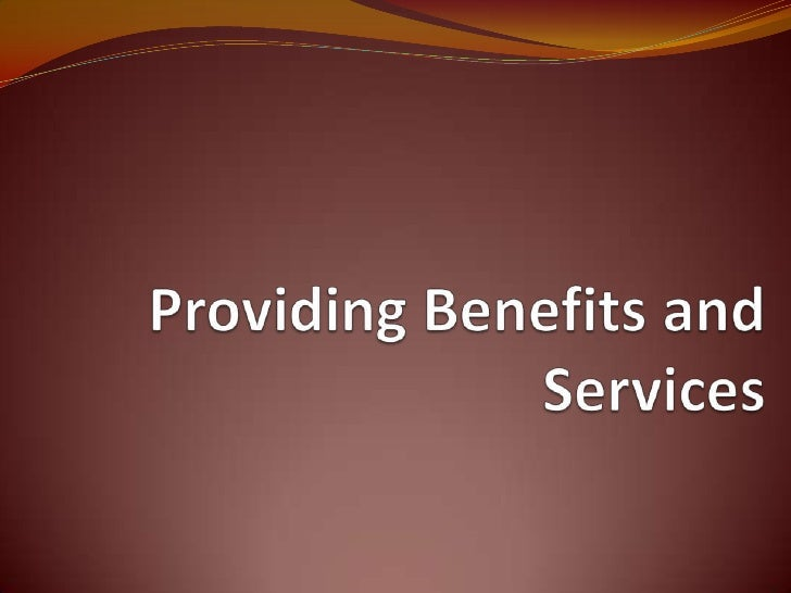 Promoting benefits and services are generally defined as in-kind (noncash) payments to employees for their membershipor pa...