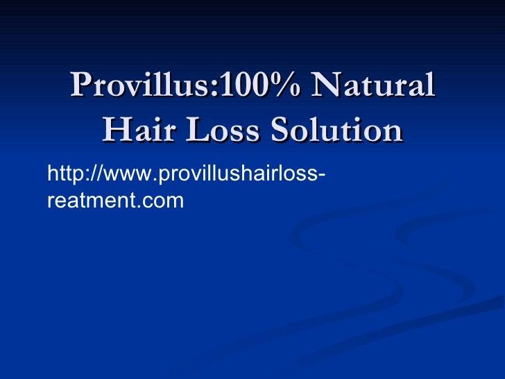 Provillus hair loss treatment