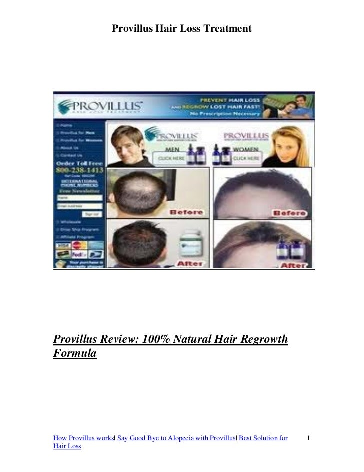 Provillus Hair Loss TreatmentProvillus Review: 100% Natural Hair RegrowthFormulaHow Provillus works| Say Good Bye to Alope...