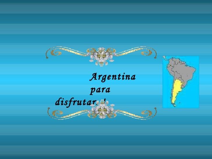 Provincias  Argentina