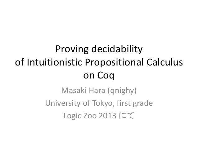Proving Decidability of Intuitionistic Propositional Calculus on Coq